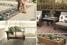 Deck Design Ideas / From safety and lighting, to pools, and cover ideas. All the ideas and mood boards you need when designing your own deck at home.