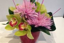 Cut flowers / Here is a peek into some freshly cut flowers that we provide for corporate companies.