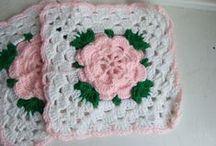 Squares em Crochet.