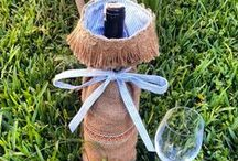 home decoration / wine bottle ideas, sise kilifi fikirleri