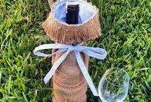home decoration / wine bottle ideas, sise kilifi fikirleri