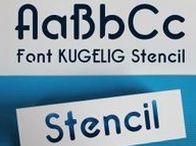 Schriftarten / Fonts für Plotterdateien / Schöne & individuelle Schriftarten, die für Schneideplotter geeignet sind. Stencil-Fonts und Schriftarten um Girlanden zu erstellen.