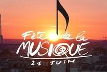 Fête de la musique / GRAPHISME / Affiche pour la fête de la musique, en effet, la nuit du 21 juin  est la plus longue. Donc j'asssocie, le coucher de soleil et la note de musique.