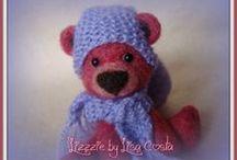 My needle felted Teddy Bears / Orsetti di tutti i tipi, in morbida lana infeltrita