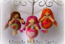 My dolls... / Bamboline e fatine in lana infeltrita