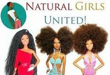Natural Girls United Dolls / Ethnic hair inspired dolls customized by Artist Karen Byrd.  Natural Girls United http://www.naturalgirlsunited.com