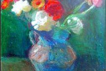 PAINTINGS OF FLOWERS BY NINA KENTROU / My paintings of flowers