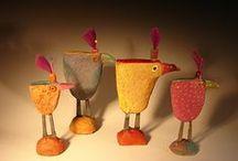 keramiek vogels / kippen
