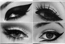 Augen Make Up / Augen Make Up Variationen, natürlicher - ausgefallener Lidschatten, Augenbrauen, Lidstriche..