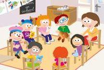 Sil op school, Welkom op school / De eerste schooldag, waar hang je je jas, waar laat je je tas, wie is je juf/meester en welke vriendjes en vriendinnetjes ga je dit jaar maken. Een thema over Welkom op school.