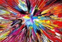 Spin Paintings By Mark Chadwick / A collection of my Spin Paintings using Acrylic on Canvas which can also be seen on my website at www.markchadwick.co.uk.