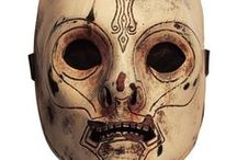 """Masks / """"Horror is the removal of masks."""" -Robert Bloch"""