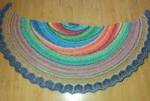 crochet and knit scarves and ponchos