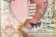"""art journals, mixed media, smash books, calendar... / ...Inspirationen simple Notizbücher und """"Kladden"""" in etwas ganz Spezielles und Einzigartiges zu  verwandeln."""