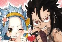 Fairy Tail. Levy and Gajeel! Gale!