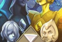 Steven Universe - Pearls and Daimonds / #blue diamond #Yellow diamond  #Yellow Pearl #Blue Pearl #White diamond  #Pink diamond