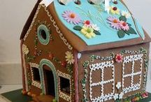 Gingerbread & Biscuit Houses by Little Touch of Luxury / Ginger Bread Houses are a beautiful gift for children, big and small; in fact for Christmas this year I made a wonderful version for a very grown up young lady; stunning, in white & silver, it was elegant and ever so tasteful. They make a great treat for Easter, Christmas or simply presented as a wonderful surprise or a cool treat.  Additionally houses can be made in chocolate or vanilla biscuit base, should you not fancy the delicate or fiery ginger notes. Houses can be made in various sizes.