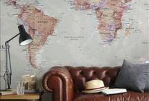 maps and interior / world map use interior