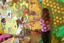 Ljus, skugga, ljusbord, speglar i förskolan / Reggio-inspiration