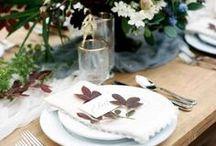 Decoración de boda de otoño