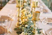 Decoración de boda dorada