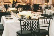 Decoración de boda black&white