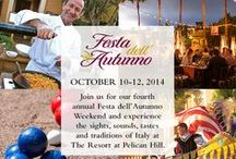 Festa dell'Autunno / As autumn arrives along the coast of Newport Beach, The Resort at Pelican Hill® presents its annual three-day harvest season celebration, bringing the sights, sounds, tastes and traditions of Italy to Southern California's Tuscan seaside village. The series of weekend events features art created before your eyes, regional Italian fare, and live performances by musicians, dancers and flag bearers. / by The Resort at Pelican Hill