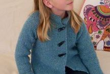 Girl's knit jacket. / Knits for girls, 8 years old