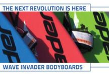 Wave Invader Bodyboards / Modern styled bodyboard with radical curves and sleek lines designed specifically for the recreational user with V Hull, concave deck & sharp nose