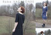 Prémices : Vagabonde / Vagabonde est une blouse, une robe imaginée pour les couturières initiées