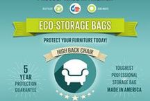 Furniture Storage Bags / We're making the first American Made- Eco Furniture Bags made from recycled plastics with a reusable hook and loop enclosure that will protect, prolong and preserve your furniture with a 5 year guarantee!!