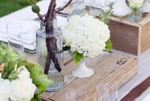 Rustic Table Decor / Flowers, functions
