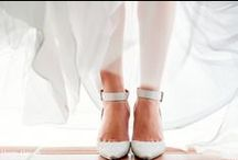 Bridal Shoes / Shoes, shoes, shoes and more shoes. Bride's wear such an amazing array of sandals, heels, slippers and boots.