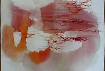 """Ana Zanic """"Cloud Rouge"""" / contemporary watercolor paintings"""