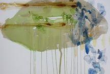 Walker Fine Art, Denver, Colorado / art, watercolor, abstraction, mark making, intuitive