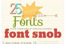 Fonts. / by Kaylee Burger