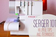 How to use an overlocker/serger / Useful tips and tutorials for using your overlocker.  How to use your serger / by Sewing Directory