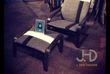 re:Born by J. Hess Designs / re:Born:  J.HD proudly presents the encore performance of the upholstered pieces photographed within this board.  Bravo!