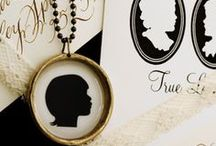 Silhouettes  and what is old is new again / I love silhouettes and have a collection that includes a silhouette of both my mother & grandmother done in the 1940s (hats and all). There is a trend of a modern spin out there. Whether old or new - enjoy!