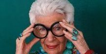 oh-so-fashionable old women / I admire women who grow old gracefully - still caring about how they look but going with their own style, letting the hair go gray and being as eccentric as they like. Let it be a lesson.