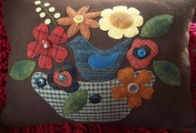 """Wonderful Ways with Wool"" / Beautiful applique/and other wool projects / by Sally Vittorio"