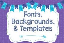 Fonts, Backgrounds, and Templates / Fonts and backgrounds to make everything cute!