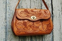 hand tooled leather / wonderful hand tooled leather -  fabulous aura, especially in the vintage realm