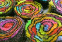 Fibers, Textiles, Felted / Fiber art