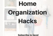 Home Organization Hacks / Organizing hacks and ideas #canadianbaglady