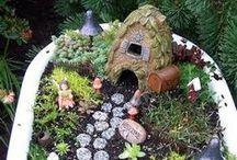 Fairy Gardens / cute ideas for fairy gardens / by Wren Tidwell