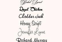 Beautiful Fonts and Digital Paper / Pretty fonts and pretty digital paper.
