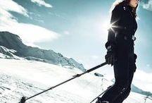 Skiing art