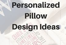 Personalized Pillow Ideas / Choose from hundreds of print and embroidery options to design your perfect pillow! Personalized pillows are a great gift for any occasion... weddings, graduation, showers, housewarming, retirement, anniversaries, Mother's Day, Father's Day, birthdays, etc. #canadianbaglady
