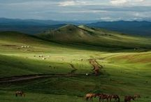 The Seven Steppes / Steppe and grassland setting inspiration for Inharmonic, book one in The Music Maker series.